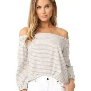 Madewell Jardin Off Shoulder Striped Top